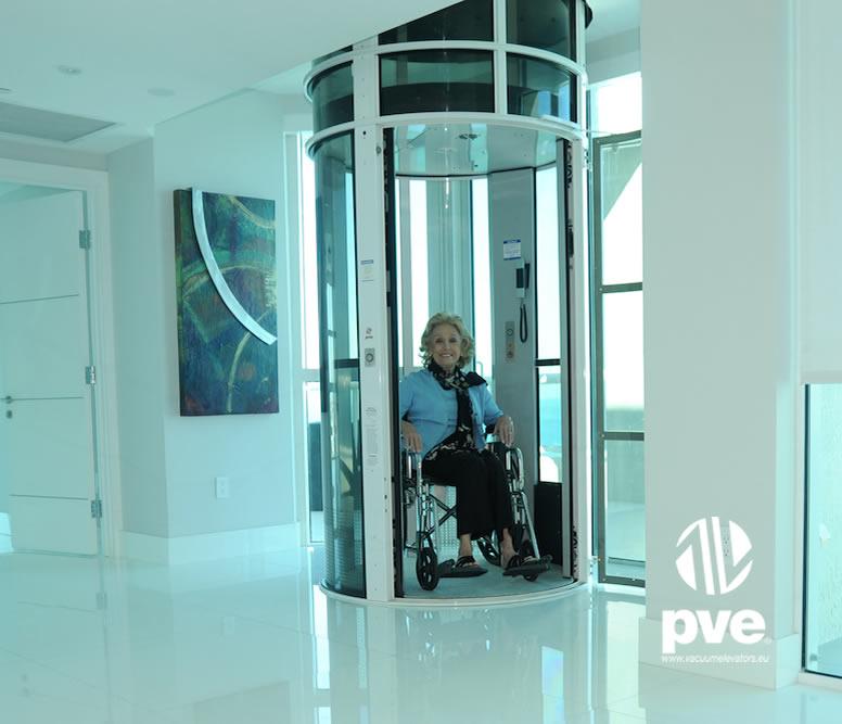 Ascensor neumatico pve52 ascensor unifamiliar con for Sillas ascensores para escaleras precios